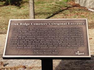 OAK RIDGE-DEDICATION OF ORIGINAL ENTRANCE-DEC 3-2014-By Donna Catlin (224)